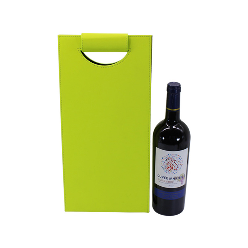 Custom Design Travel Tote Gift Pu Leather For 2 Bottle Wine Bag