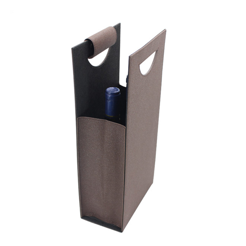Wholesale High Quality Cheap With Handle Gift Leather Wine Bag