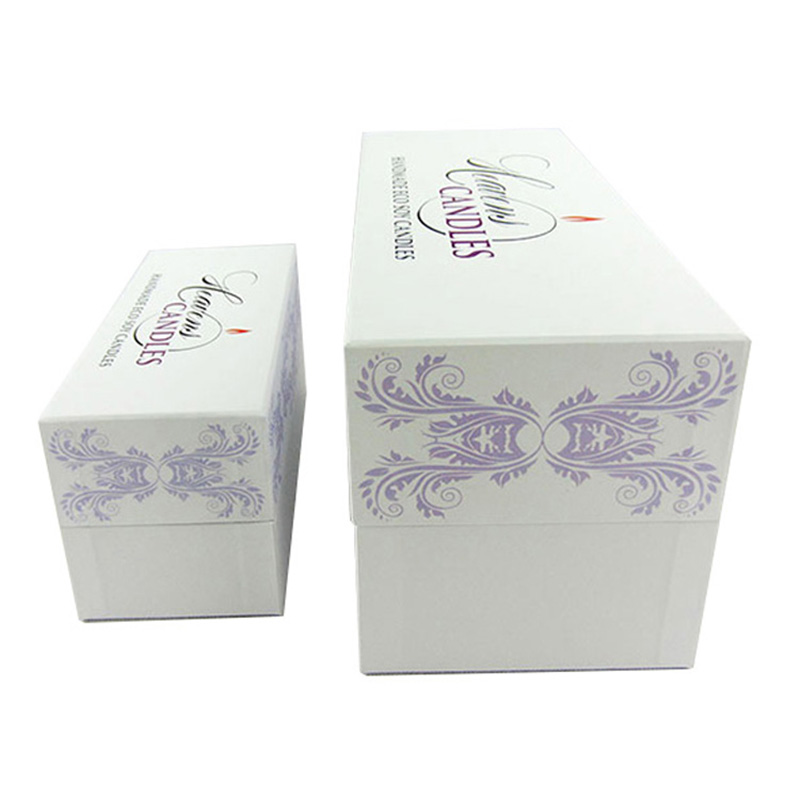 Custom White Cardboard Eco Friendly Candle Jar Packaging Box