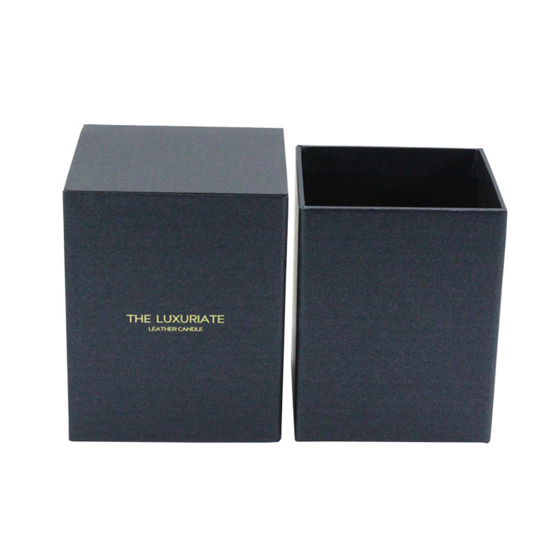 Customization Design Gift Shipping Black Candle Jar With Box