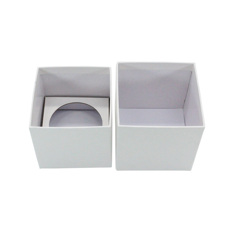 Luxury White Paper Votive Scented Candle Jar Packaging Boxes