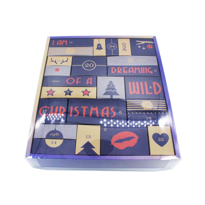 Hot Sale Paper Beauty Cosmetic Christmas Advent Calendar Drawers