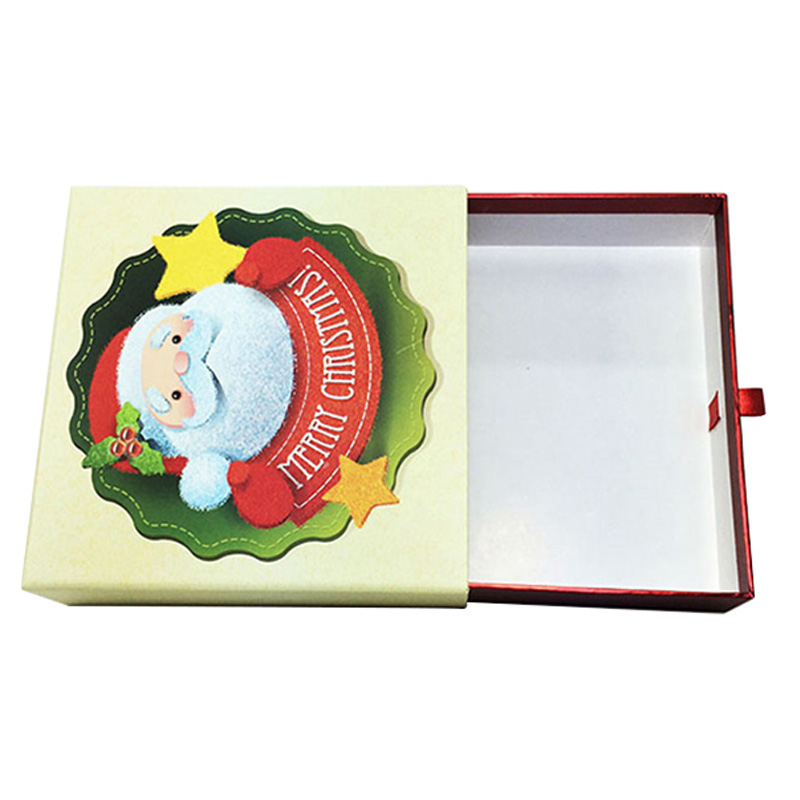 Accept Custom Cardboard Drawer Socks Christmas Gift Boxes