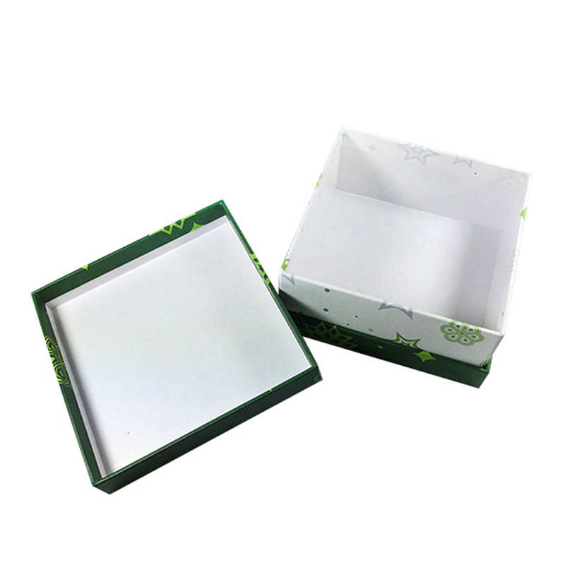 Cardboard Paper Green favour Christmas Candy Packaging Box