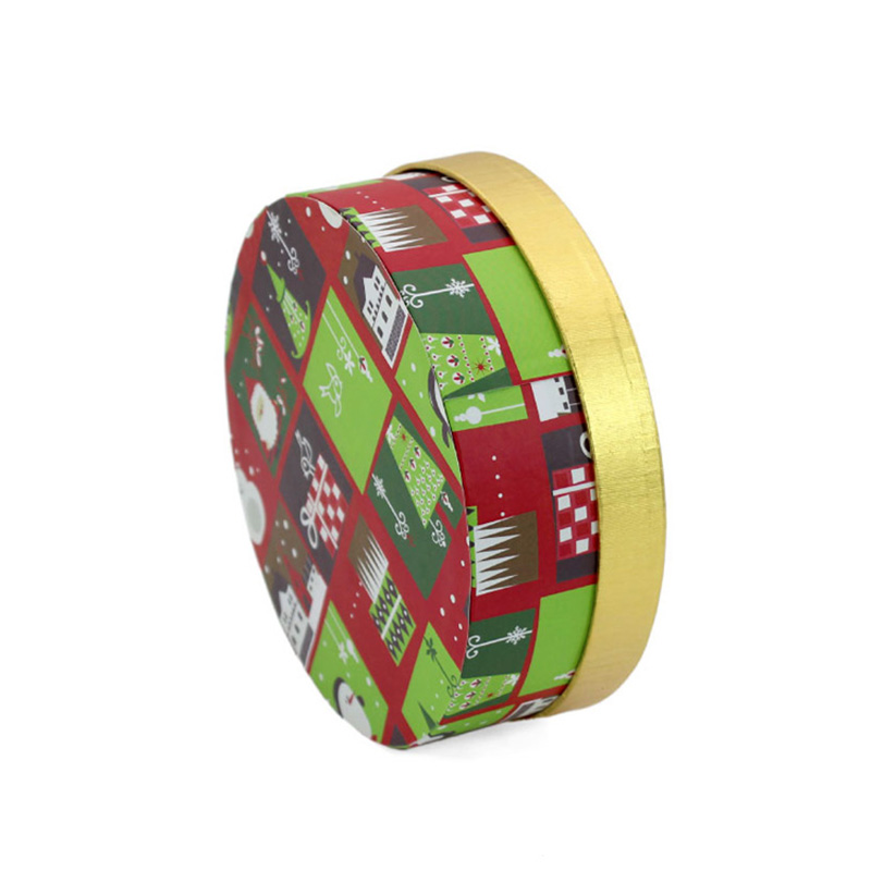 Round Shape Storage Candy Ornament Christmas Packaging Box Set