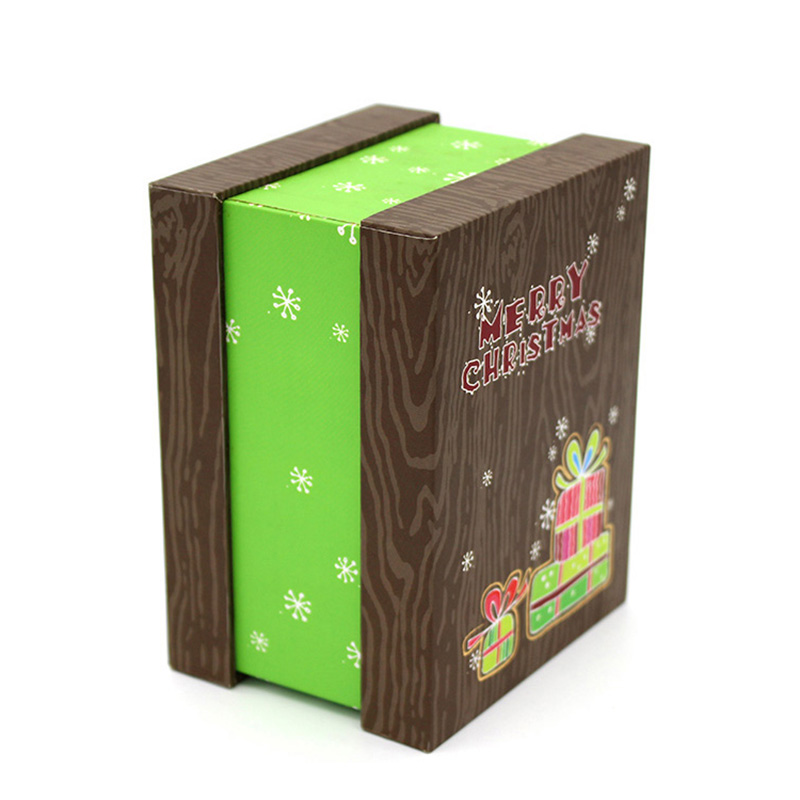 Wholesale With Lid Merry Decoration Candy Christmas Gift Box