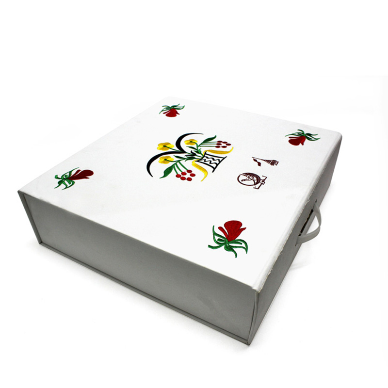 Accept Custom Large Recycled White Paper Suitcase Gift Box