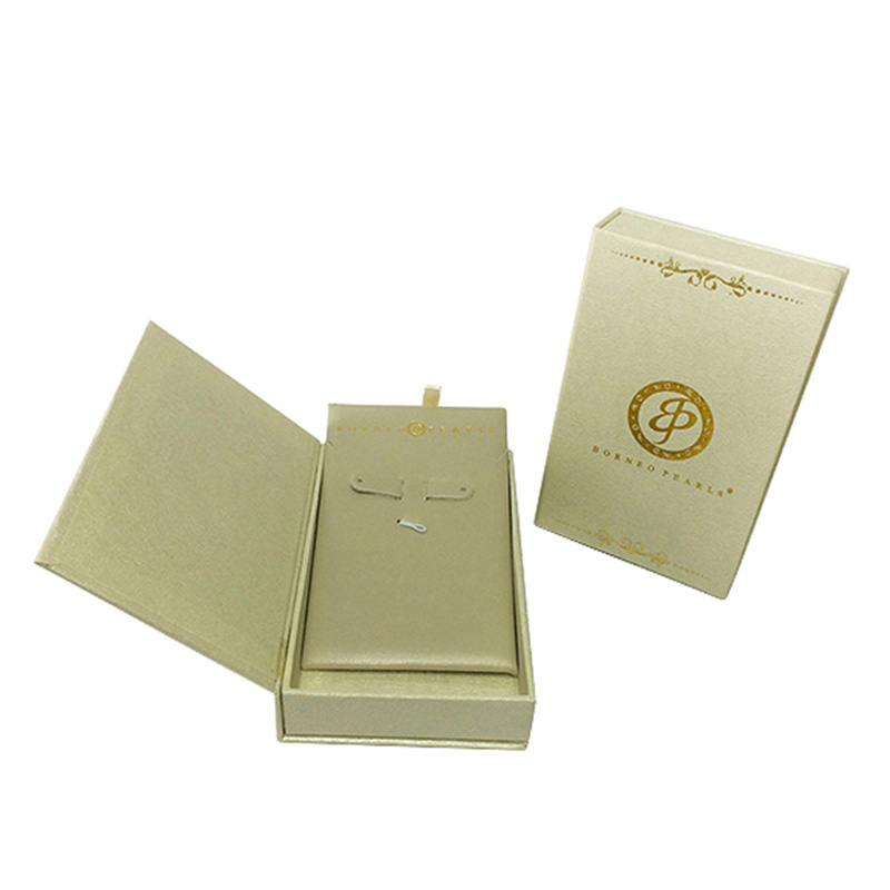 Luxury Fancy Paper Pearl Necklace Jewellery Packaging Box