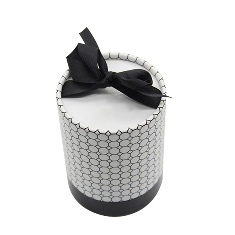 Cylinder With Ribbon Makeup Cosmetic Lipstick Gift Box Packaging