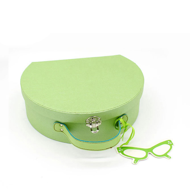 Recycled Green Paper Display Suitcase Cosmetic Gift Packaging Box