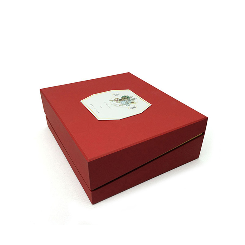 Custom Large Square Cardboard China Red Gift Tea Packaging Box
