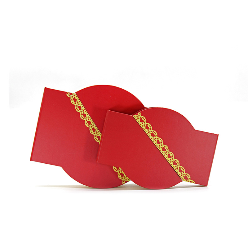 Different Types Magnetic Chinese New Year Red Gift Packaging Box