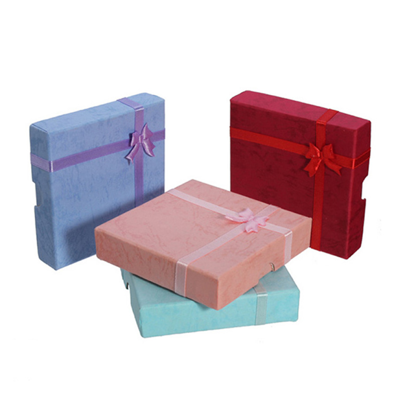 Luxury Custom With Logo Ribbon Satin Paper Jewellery Boxes