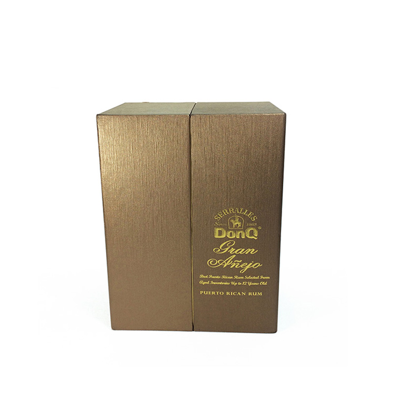 Luxury Cardboard Silk Lined Single Packaging For Wine Bottle Box