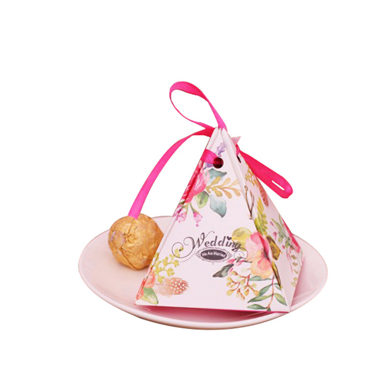 Luxury Fancy Paper Gift Pyramid Bonbon Chocolate Packaging Boxes