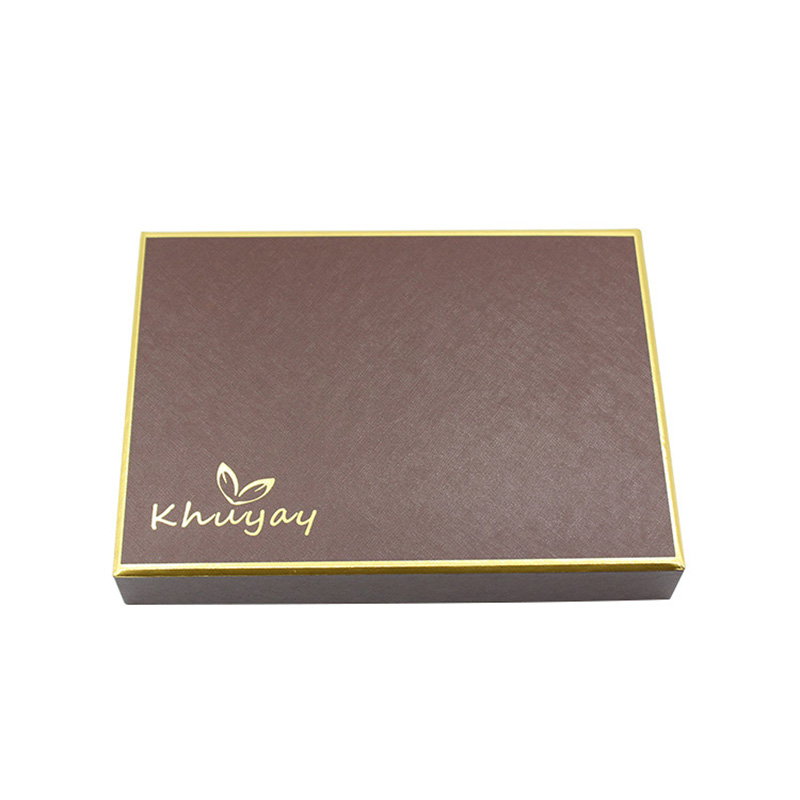 Brown Fancy Paper Compartment Chocolate Gift Packaging Box