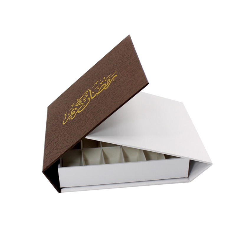 Custom Brown Magnet Chocolate Truffle Packaging Gift Box