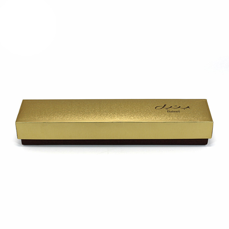 Luxury Gold Fancy Cardboard Rectangle Chocolate Box Packing
