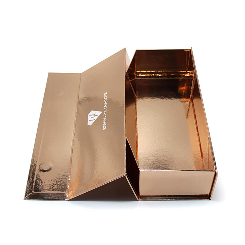 Custom Design Folding Gift Big Gold Reline Chocolate Packaging Box