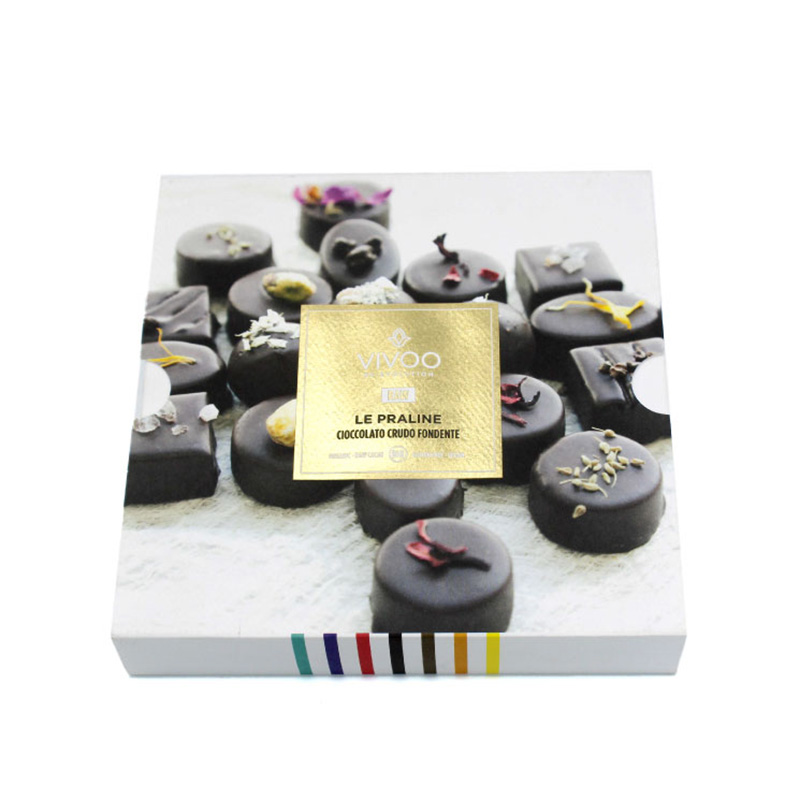 Elegant White With Dividers Truffle Chocolate Packaging Box