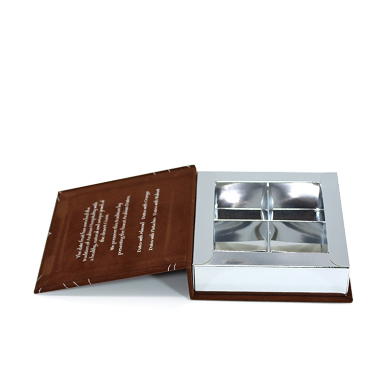 Wholesale Paper Insert Silver Card Chocolate Packaging Box