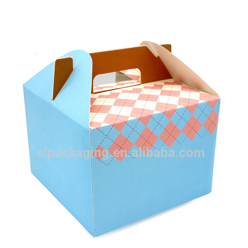 Wholesale Folding Foldable Big Birthday Cake Box Window Handle