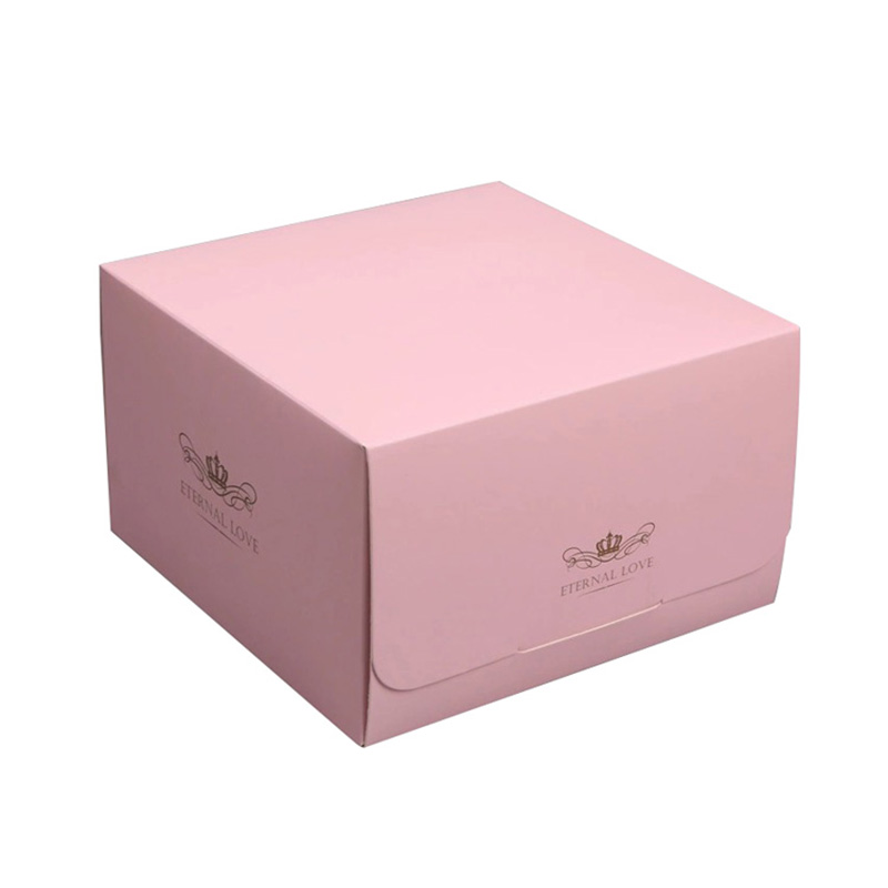 Handmade Custom Gift Food Greade Pink With Ribbon Cake Packaging Box