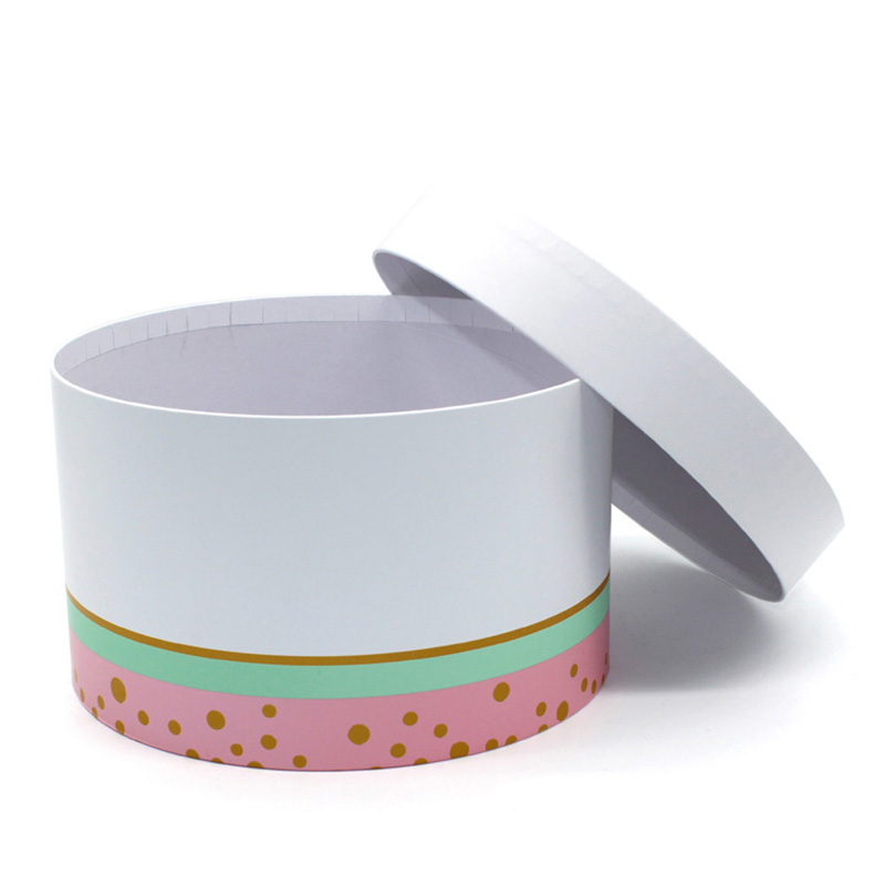 China Supplier White Cardboard Cylinder Eco Friendly Cake Box