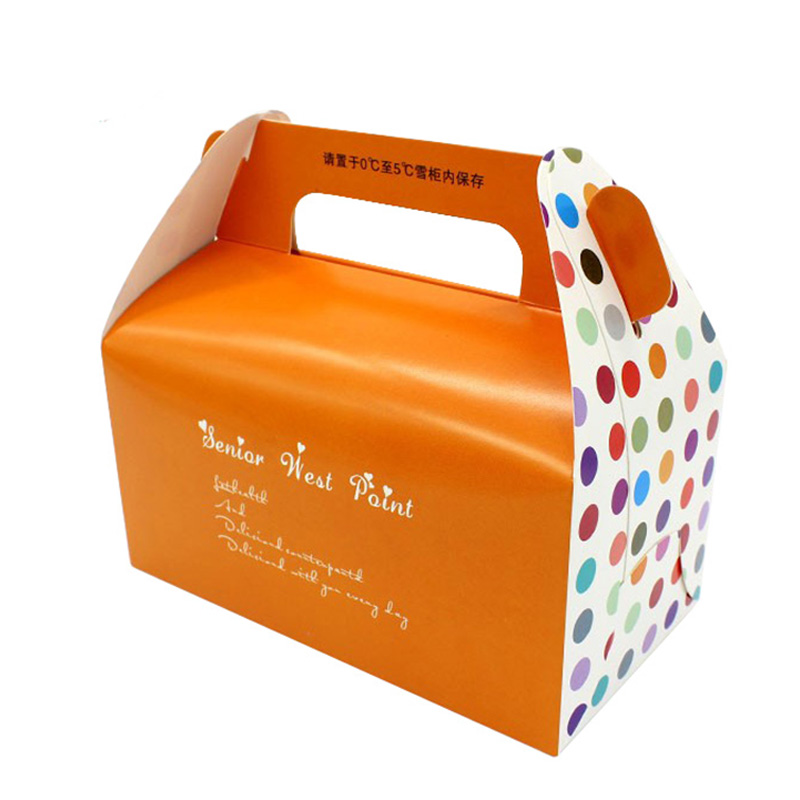 Transparent With Handles Paper Cake Package Box Manufacturers