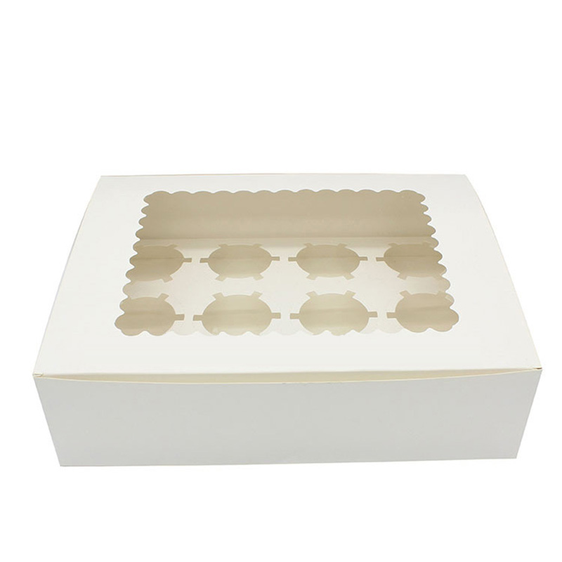 White Paper White Window Cup Cookie Cake Packaging Box