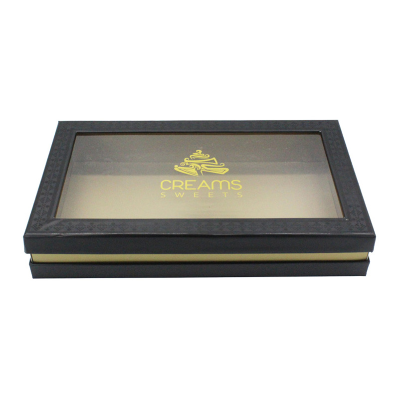 Wholesale Cardboard Black Box Packaging Design For Cake