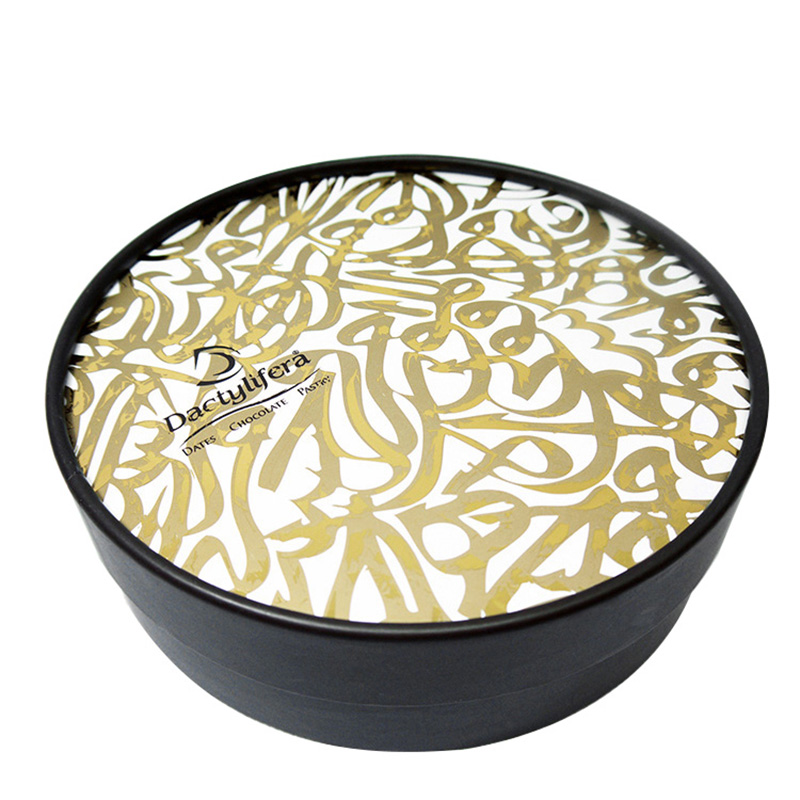 Custom Logo Round Shape Biscuit Paper Cookie Packaging Box