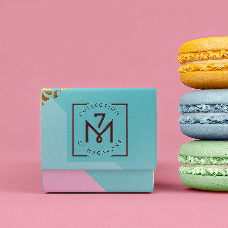 Custom Printed Rigid Paper Macaron Packaging Boxes
