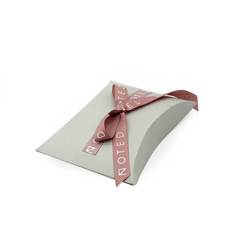 Custom With Ribbon Paper Individual Cookie Packing Box