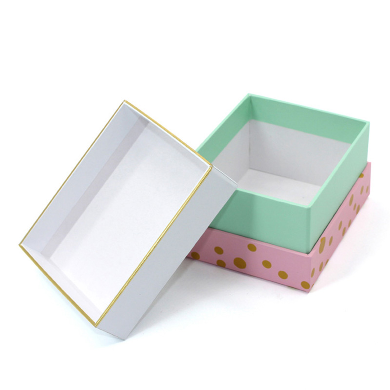 Rigid Paper Printing Gold Stamping Cookie Container Packaging Box