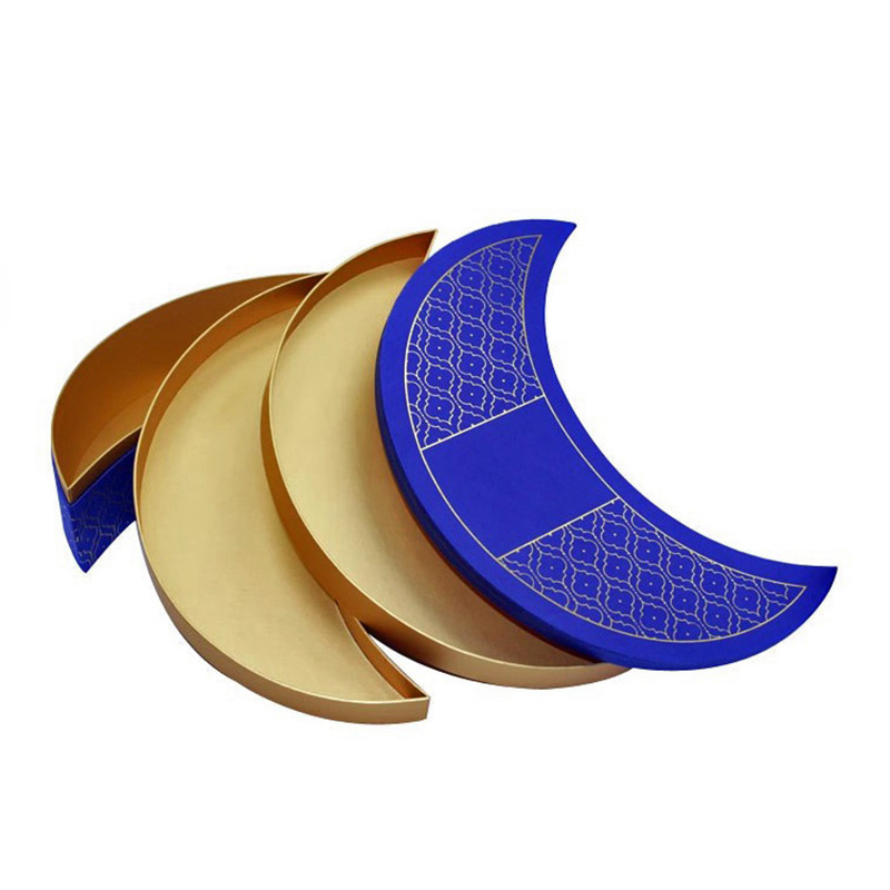 Unique Moon Shape Single Cardboard Gift Cookie Packaging Box