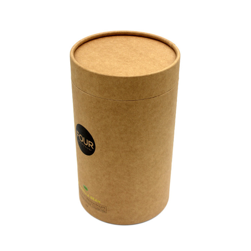 Personalized Cylinder Canister Empty Tea Box Packaging