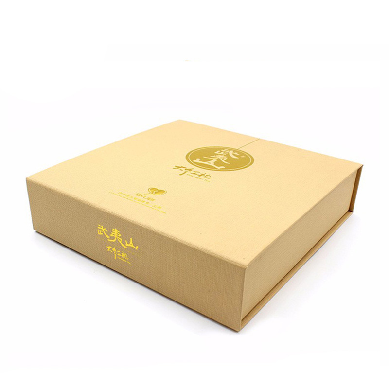 Custom Design Golden Fancy Paper Tea Gift Packaging Box