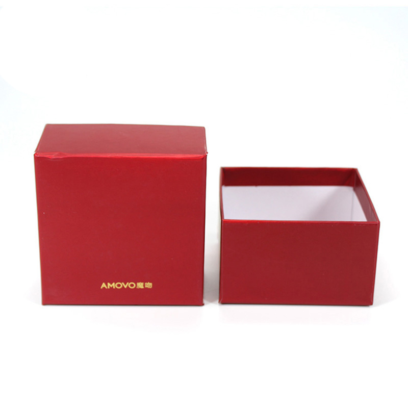 Customized Square Red Cardboard Storage Tea Packaging Box