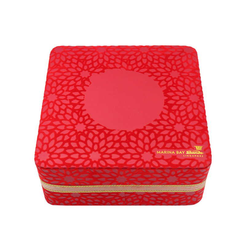 Luxury With Lid Big Paper Chinese Tea In Red Box In China