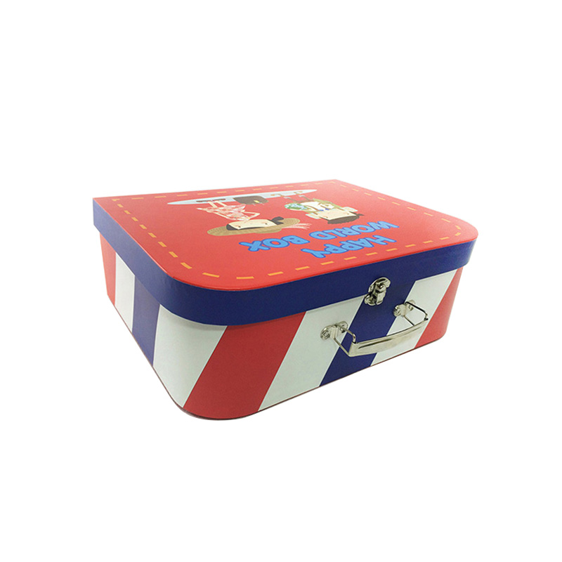 Custom Suitcase Paper Treasure Kids Candy Packaging Box
