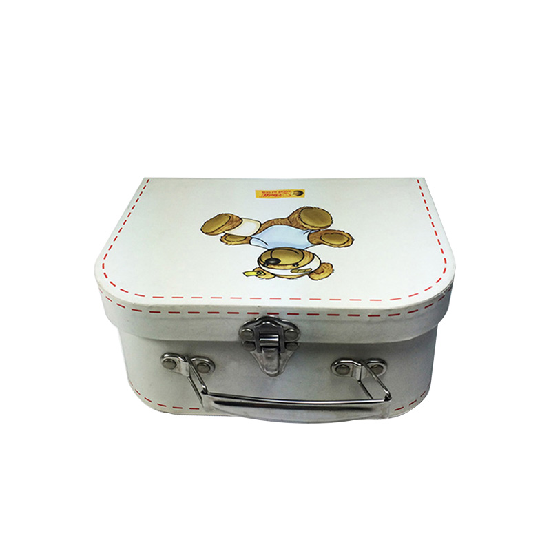 Wholesales Suitcase White Gift Candy Packaging Box With Insert