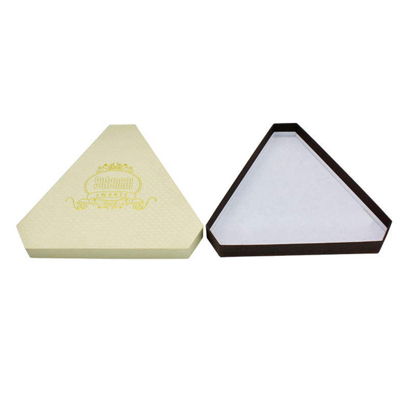 Cheap Gold Stamping Triangle Big Storage Candy Packaged Box