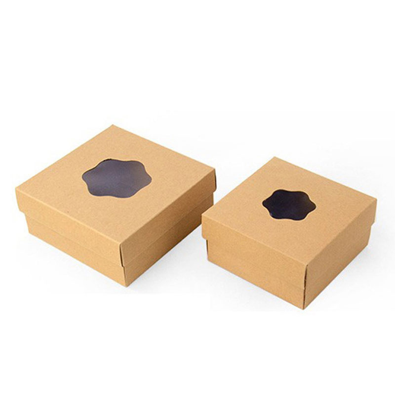 Eco Friendly Kraft Paper Takeaway Food Grade Packaging Box