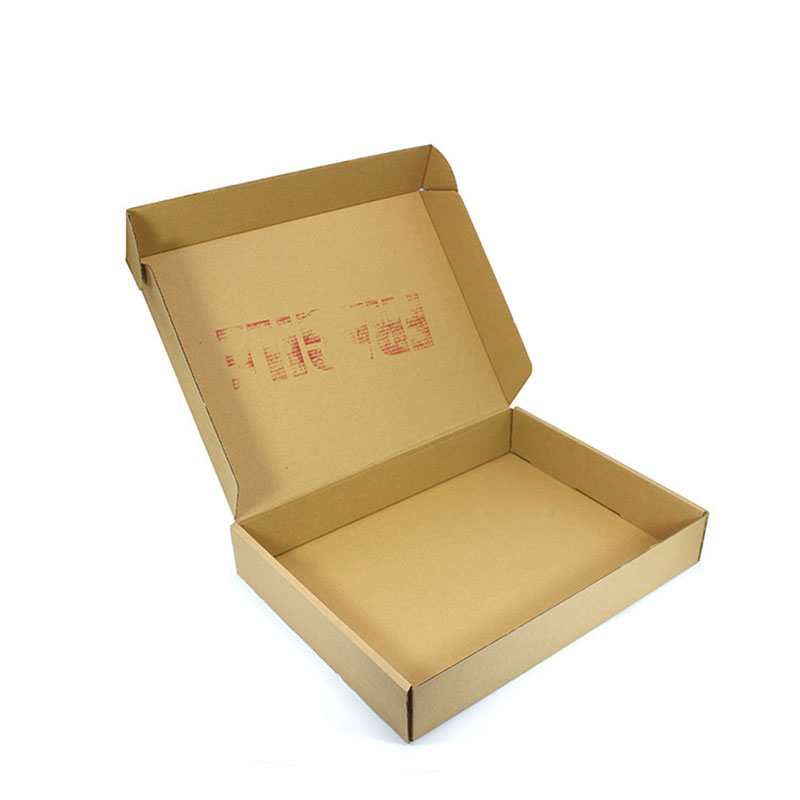 Eco Friendly Folding Flute Corrugated Paper Takeaway Food Box