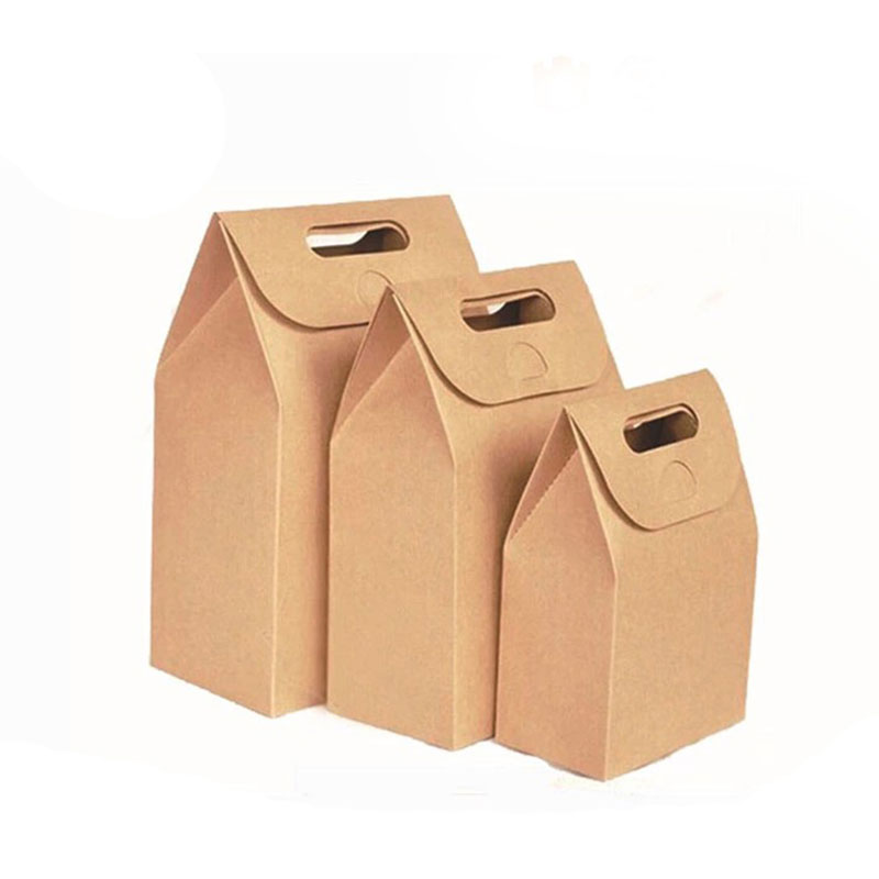 Wholesale Eco Food Kraft Paper Takeaway Food Packaging Box