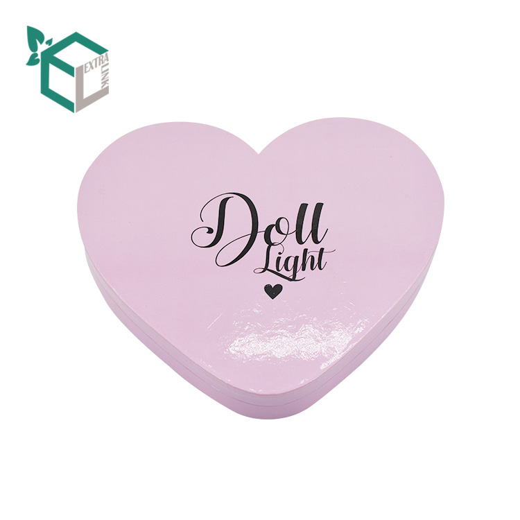 Unique Design Custom Packaging Heart Shape Makeup Eyeshadow Palette Box