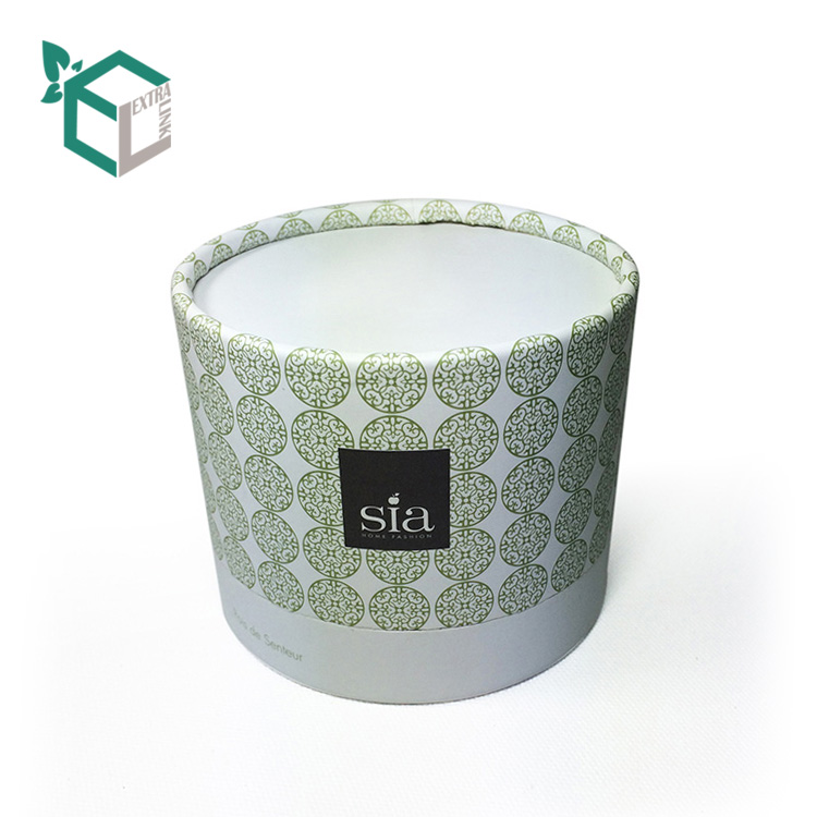 Beautiful Custom Design Size Cylinder Candle Box Packaging