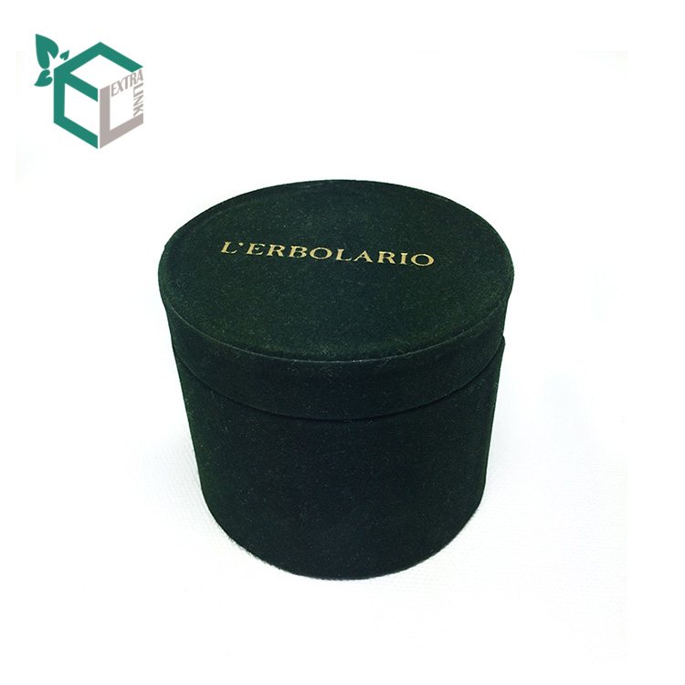 Luxury Velvet Soft Touch Round Cardboard Candle Box