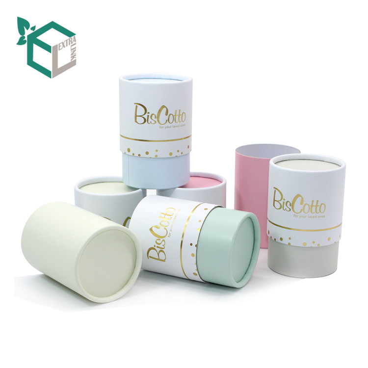 Cute Color Packaging Round Coated Paper Candle Box